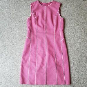 David meister pink linen dress